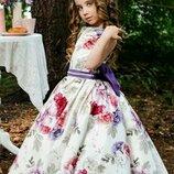 Нарядное пышное бальное платье детское выпускное