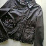 Zara стильная кожаная куртка