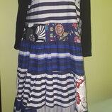 большой размер очень красивое платье Италия новое сочетание разных типов ткани размер не указан рука