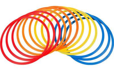Кольца тренировочные футбольные 4602-40 12 колец, диаметр 40см