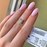 Жіноче срібне кольцо на фалангу пальца, женское серебряное кольцо на фалангу с фианитами