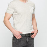 Мужская футболка серая lc waikiki / лс вайкики меланжевая с надписью new york 86