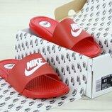 Мужские шлепанцы Найк Nike Red White