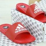 Мужские шлепанцы Адидас Adidas Red White