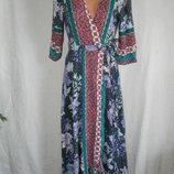 Новое натуральное платье на запах