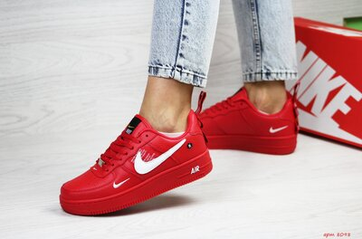 Кроссовки женские Nike Air Force 1 red