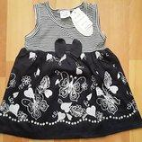 Платье бабочки на 1-3года