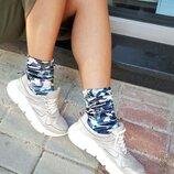 Бархатные носочки, стильные носки с принтом