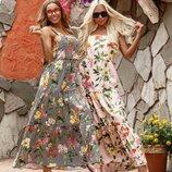 Лёгкое яркое платье «PALERMO» две расцветки