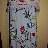 Женское платье с цветами и кружевом больших размеров