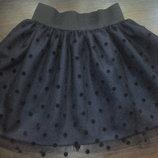 Школьная юбка Ткань еврофатин, 2 цвета черная или темно-синяя, размер на выбор