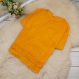 Яркий качественный натуральный топ блуза свободного кроя от RIVER ISLAND рр 8 наш 42