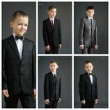 Школьный костюм тройка для мальчика, пиджак жилетка и брюки
