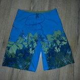 яркие голубые мужские пляжные шорты REEF W32/М/46