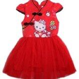 Красное платье с Китти для девочки