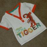Футболка детская с тигром на малыша 6-9 месяцев Disney.