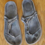 Шльопки-Вєтнамки шкіряні розмір 39 стелька 25,5 см Good for the sole