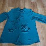 Лёгкая блуза зелёного цвета