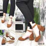Женские замшевые туфли на каблуке 5 см,разные цвета