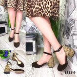 Женские замшевые туфли на каблуке 5 см,разные цвета,леопардовые туфли