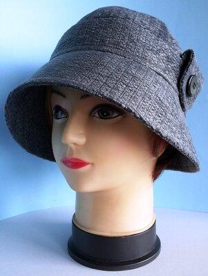 Шляпа женская. Клош. Демисезонная.ткань Шанель .