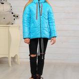 Куртка демисезонная для девочки Лола бирюза