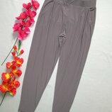 Шикарные летние струящиеся стильные брюки бананы цвета капучино Styled By.