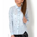 Блуза школьная с длинным рукавом на девочку 2894 Mevis Размеры 146- 164