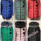 42-52р Отличнейшая зимняя куртка пуховик женский молодёжный пуховик