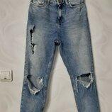 Высокая посадка мом джинсы mom рванки
