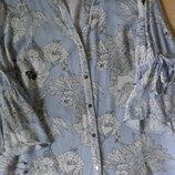 Блузка F&F полосатая с цветами красивая