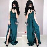 Стильное вечернее платье сарафан,6 цветов
