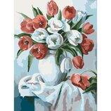 Картина по номерам. Букеты Букет ярких тюльпанов 30х40см KHO2046