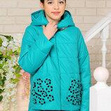 Куртка демисезонная для девочки Миранда бирюза