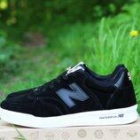 Кроссовки New Balance CT-300 black черные, замша