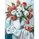 Картина По Номерам Идейка. Букеты БУКЕТ Ярких Тюльпанов 30Х40СМ KHO2046