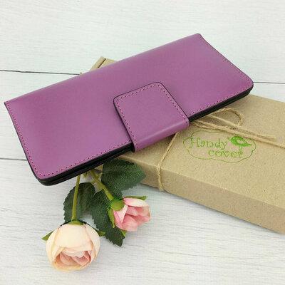 Женский кожаный кошелек К-18 цвета фуксия