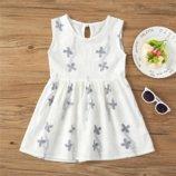 Детское хлопковое летнее платье , 5-6 года, новые