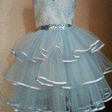 Пышное нарядное выпускное бальное детское платье