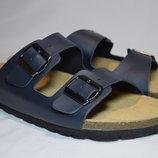 Шлепанцы сланцы Watsons / Birkenstock сандалии мужские кожаные. Германия. Оригинал. 45 р.