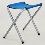 Стул туристический складной без спинки 0536 стульчик туристический размер 28х36х24см