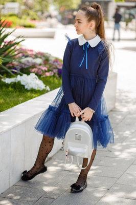 134 140 146 152 Школьный сарафан синий черный школьное платье для девочки школьная форма
