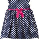 Детское хлопковое платье в горошек