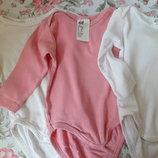 Пакет бодиков для новорожденных. Семь штук. 62 размер, H&M