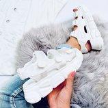 Женские белые босоножки Fila