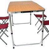 Раскладной стол для пикника со стульями Bonro модель D. Польша. Si.
