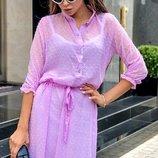 Платье-Рубашка.шифон 42-46