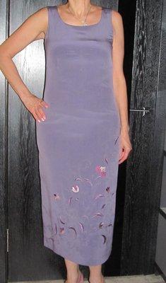 Шелковое длинное платье J Taylor р.12
