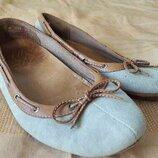 Балетки туфли мокасины фирменные Timberland р.37-23 см.