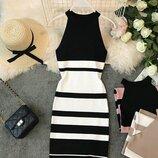 Стильное платье трикотаж 42 - 44